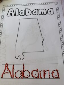 Alabama Printable